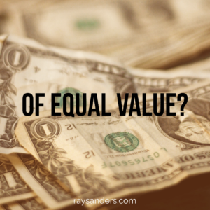 Of equal value?