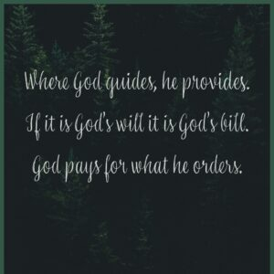 A Bill for God's Will?